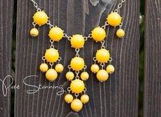Mini Bubble Necklace Inspired by J . Crew  Yellow by PureStunning, $9.00