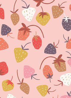 print & pattern: NEW WORK - jehane design agency Food Patterns, Kids Patterns, Pretty Patterns, Textures Patterns, Fabric Patterns, Surface Pattern Design, Pattern Art, Fruit Illustration, Fruit Pattern