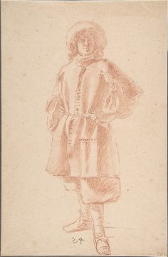 Moses ter Borch, Study of a Standing Youth (Metropolitan Museum of Art, New York)