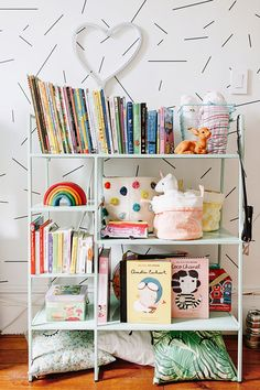 Kids' shelf styling