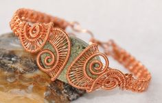 Natural Copper Wire Helix Bracelet with by ggChambersDesigns, $52.00