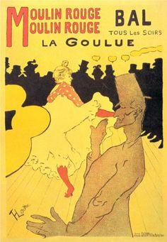 Henri de Toulouse-Lautrec  Moulin Rouge La Goulue