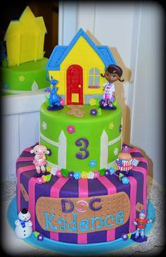 Doc Mcstuffins birthday cake Birthday Party Celebration, 6th Birthday Parties, Birthday Bash, Doc Mcstuffins Birthday Cake, Baby Birthday Cakes, Fourth Birthday, Bday Girl, Chocolates, First Birthdays