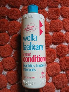 Wella Balsam! Love the bottle!  Yes, this bottle is so cute!