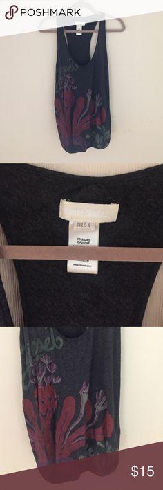 Diesel sleeveless tee It is from Diesel 100% cotton sleeveless top. Beautiful print! Diesel Tops Muscle Tees