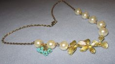 Handmade10K GF Orchid Necklace Pearl Strand by Scentedlingerie, $32.00