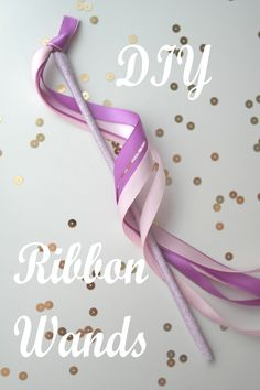 DIY Washi Tape Ribbon Wands by Sweetly Chic Events & Design! Perfect for fairy, princess or dress up play!