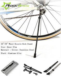 "Silver Alloy KICKSTAND 27/"" Vintage Road Bike Tank Cruiser Bicycle Rat Rod Fixie"