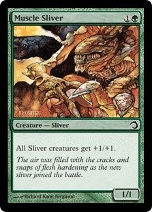 Magic The Gathering Premium Deck Series: Slivers: Muscle Sliver Card Kingdom [pinder sliver deck need x4 or sub hunter and two-headed]