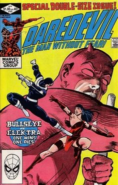 Daredevil #181 cover by Frank Miller and Klaus Janson.
