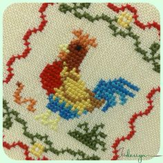 My little rooster cross stitch pattern