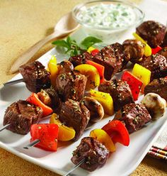 Recipe for Classic Beef Kabobs  - I absolutely love kabobs of all kinds, but my favorite is a classic kabob with beef and an assortment of veggies!