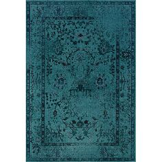 Teal/ Grey Area Rug (7'10 x 10'10) - Overstock™ Shopping - Great Deals on Style Haven 7x9 - 10x14 Rugs