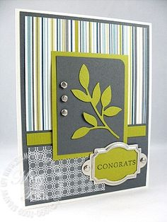 """Stampin' Up! Demonstrator - Mary Fish, Stampin' Pretty Blog, Stampin' Up! Card Ideas & Tutorials: April 2009 """"walk in the park"""" paper"""