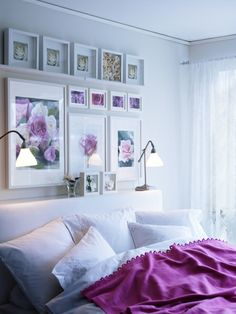 Frame all you love to see... use RIBBA frame series to create your own collage in the bedroom.