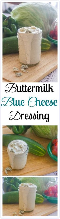 Buttermilk Blue Cheese Dressing. A dip for fresh vegetables, favorite sauce for chicken wings and a salad dressing. Packed with protein, too. Mix all ingredients in one bowl.
