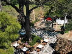 This photo from Hios, North Aegean is titled 'from air'. Chios Greece, Tourism Day, Water Conservation, Greek Islands, Europe, Patio, Mansions, World, Outdoor Decor