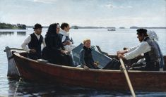 Albert Edelfelt (1854-1905) - Conveying the Child's Coffin, aka A Child's Funeral.  1879 oil on canvas.  Google Art Project.