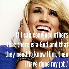 That is why she is amazing!! Her faith in God and trying to make the world a better place is inspiring