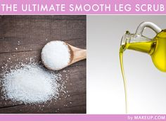 Ingredients: 1/2 cup of sugar +1/4 cup olive oil (Optional- A few drops of your favorite essential oil)  Instructions: Mix the above ingredients together in a small bowl. Then smooth the mixture onto your skin using gentle, circular motions while in the shower and then rinse. Do this once a week, and your skin will thank you… Who knew smooth skin was only a trip to your pantry away?