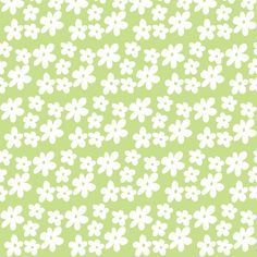 Apple Green Daisies | toni_elaine | Spoonflower custom fabric | Small scale soft green version of my simple daisy design.