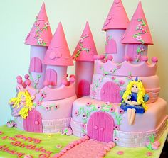 Fairy castle cake by deborah hwang, via Flickr