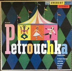 Petrouchka by Stravinsky on the Everest label (1959). Cover by Alex Steinweiss.