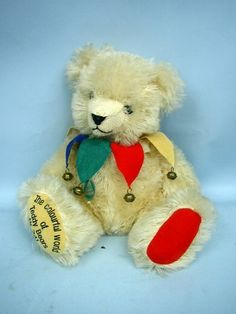 "12"" Hermann Jester Teddy Bear by Hermann With Tags - Colourful World of Teddy"