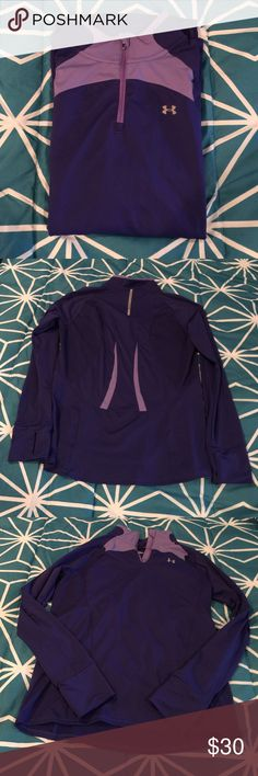 Under Armour Top Under Armour 1/4 zip running sweat shirt. Great fit, wrist zip pocket. Only worn a hand full of times. In great condition. Under Armour Tops Sweatshirts & Hoodies
