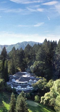 Hillside terrace rooms call for relaxation in the beautiful wooded setting of St. Helena.