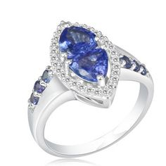 'Sizes 5,6,8,9,10 ~ Genuine Tanzanite & Diamond Ring' is going up for auction at  9am Thu, Nov 15 with a starting bid of $20.