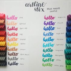 So this is artline stix brush marker swatch! Its so easy to use and color of them all are really beautiful. My favorite is apricot and royal blue #artlinestix #handlettering #artlinestixbrushmarker #artlinestixbrushmarkerswatch #calligraphy #bulletjournal #studygram #plannerandjournal #planneraddict #studying #color #coloring #brushmarker #brush #marker #journalinkbrushmarker