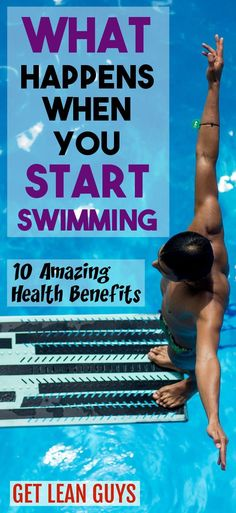 1. You will become less stressed Swimming is an excellent exercise to reduce stress in your life. When you start swimming regularly, you will quickly notice how much more relaxed and better you feel... #workout #swimming