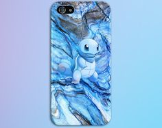 Squirtle Blue Marble x Stone Phone Case Texture iPhone 6 iPhone 6 Plus Tough iPhone Case Galaxy s8 Samsung Galaxy Case Handmade CASE ESCAPE