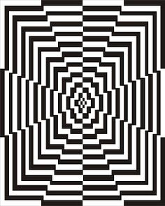 Super monochrome geometric pattern, would work well in needlepoint - Illusion Kunst, Illusion Art, Optical Illusion Quilts, Optical Illusions, Art Graphique, Art Plastique, Geometric Art, Fractal Art, Line Art