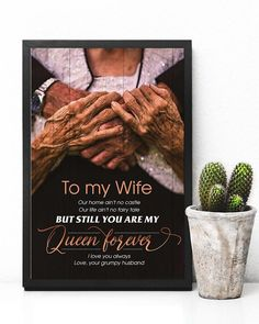 Perfect Gifts To My Husband Poster | Family Love Gifts Great Gifts For Wife, Love Gifts, You Are My Queen, Custom Canvas Prints, Personalised Canvas, Mom Birthday Gift, Message Card, Custom Photo, Framed Prints