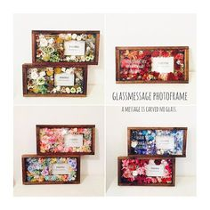 , Glassmessage photoframe 茶色のフレームもオシャレですよ! 皆さん素敵な結婚式になさってください , #notarina#glassmessagephotoframe #両親贈呈品 #両親に感謝 #ガラスにメッセージ彫ります