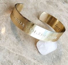 Personalized Bracelet Cuff  Custom Hand by BlueCornerCreasigns