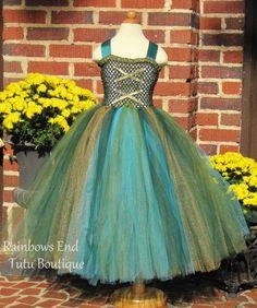 Merida the Brave Tutu Dress size  1218m 1824m by whererainbowsend1, $50.00