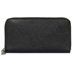 Coach Men Pebbled Leather Round Zip Wallet (£285) ❤ liked on Polyvore featuring men's fashion, men's bags, men's wallets, black, mens zip around wallet, mens wallet, mens zipper wallet, mens zip wallet and coach mens wallet