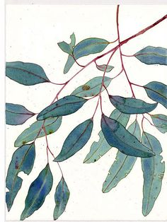 Beautiful!  This could be a great kids project. Outlines with sharpie in brown, then watercolor the leaves.