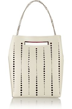 Jil Sander | Perforated leather shoulder bag | NET-A-PORTER.COM