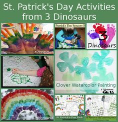St Patrick's Day Printables & Activities on 3Dinosaurs.com - plus links to other