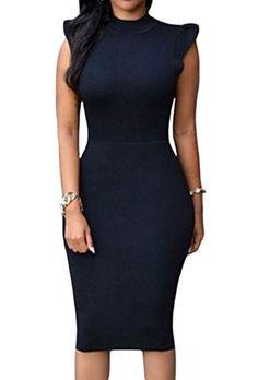 ZKESS Women s Bodycon Party Club Midi Dress (Medium Size 095d5945186b