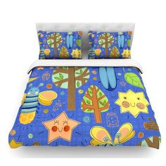 East Urban Home Lightning Bug by Jane Smith Featherweight Duvet Cover Size: King/California King, Fabric: Woven Polyester