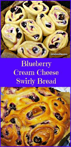 BLUEBERRY CREAM CHEESE SWIRLY BREAD .... oh my! Serious soft, sticky, creamy yummy! Happy baking! | Lovefoodies.com
