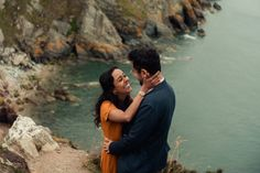 Beautiful engagement session at the Cliffs of Howth in Dublin. Cliffs of Howth. Where to travel in Ireland - Howth. Ireland Travel, Elopements, Dublin, Engagement Session, Irish, Coastal, Adventure, Couple Photos, Couples