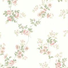 Papel de Parede - Toile du Jouy - Importado da Inglaterra - Flores em Fundo Branco – 302-66869
