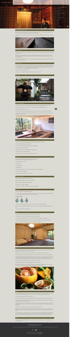 富裕層向け旅館予約サイト「RYOKAN COLLECTION」のマナー喚起ページ