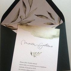 Original Wedding Invitations, Wedding Invitations, Weddings, Cards, Olive Tree, Watercolor Painting
